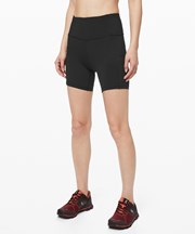 "Lululemon Fast and Free High-Rise Short 6"" black"