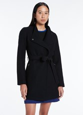 Marcs RUBY FELTED WOOL COAT BLACK