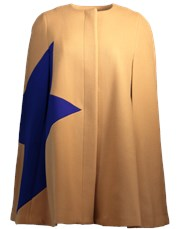 Msgm Cape With Star CAMEL-BL