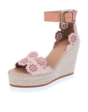 See By Chloe Glyn Sangallo Wedge Platform Shoe CUOIO