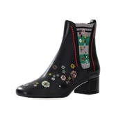 Fendi Marie Antionette Embroidered Bootie BLACK