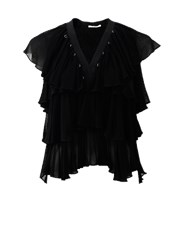 Givenchy Tiered Ruffle Top BLACK