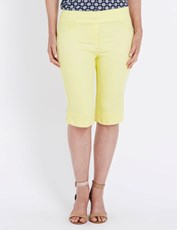 Millers Comfort Hem Detail Short Over The Knee LEMON