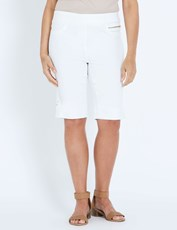 Millers coloured denim short WHITE