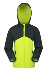 Mountain Warehouse Exodus Two-Tone Kids Water-resistant Softshell Lime