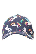 Mountain Warehouse Glare Printed Kids Baseball Cap Indigo