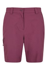 Mountain Warehouse Hiker Stretch Womens Shorts Berry