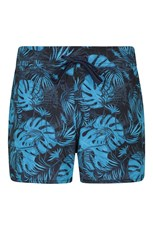 Mountain Warehouse Patterned Womens Stretch Boardshorts - Short Pale Blue