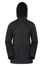 Mountain Warehouse Pines Womens Long Softshell Jacket Black