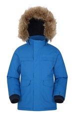 Mountain Warehouse Samuel Kids Water-resistant Parka Jacket Cobalt