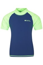 Mountain Warehouse Short Sleeved Kids Rash Vest Bright Green