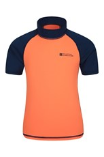 Mountain Warehouse Short Sleeved Kids Rash Vest Bright Orange