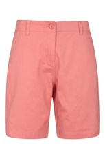 Mountain Warehouse Stretch Womens Cotton Shorts Coral