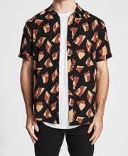 Sushi Radio Bel Air Short Sleeve Casual Shirt Multi Colour
