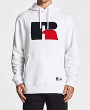 Russell Athletic Pro Cotton Boucle Hoodie White