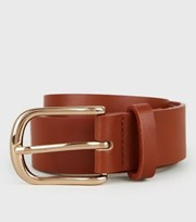 New Look Tan Leather-Look Hip Belt