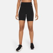 Nike One Women's Mid-Rise 18cm (approx.) Bike Shorts Black/White
