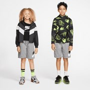 Nike Sportswear Club Fleece Older Kids' Shorts Carbon Heather/Smoke Grey