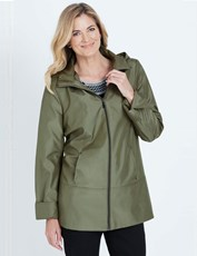 NONI B LONG SLEEVE HOODED ZIP THROUGH COAT OLIVE
