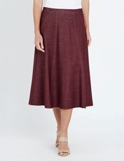 NONI B MID STRETCH DENIM ALINE SKIRT TAWNY PORT
