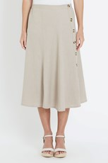 NONI B MIDI ALINE LINEN BUTTON SKIRT ATMOSPHERE