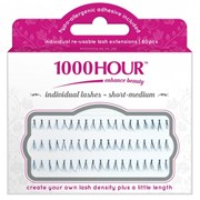 1000 Hour Individual Lashes - Black Flared Short 60pc