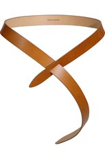 Isabel Marant LECCE LEATHER TIE UP BELT NATURAL