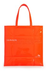 Calvin Klein SMALL GEOMETRIC TOTE ORANGE