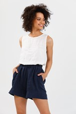 Brave And True Broadway Shorts - Navy - BT8