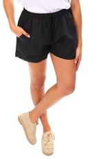 Cali & Co Casual Linen Shorts - Black - CC12