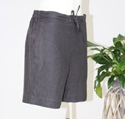 See Saw Drawstring Mid Linen Shorts - Aniseed