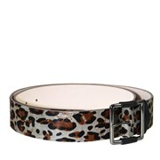 Peter Lang Faux Fur Grey Animal Print Belt