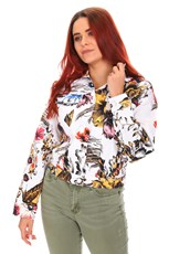 Desigual Wild Flower Denim Jacket