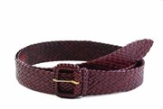Badgery Jackaroo - Plaited Kangaroo Leather Belt