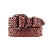 Badgery Saddler - Plaited Kangaroo Leather Belt