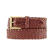 Badgery Squatter - Plaited Kangaroo Leather Belt