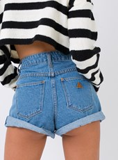 A Brand Abrand LA Blues High Relaxed Fit Shorts