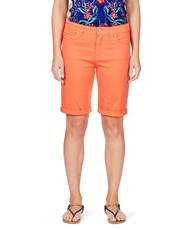 Rockmans Coloured Denim Short nectarine