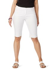 Rockmans Knee Length Denim Short white
