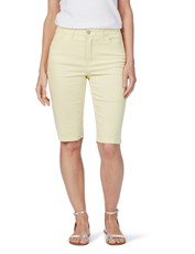 Rockmans Knee Length Solid Colour Short daffodil