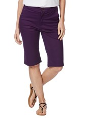 Rockmans Knee Length Studded Pocket Denim Short GRAPE