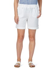 Rockmans Linen Cargo Short white