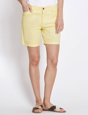 Rockmans Mid Thigh Solid Colour Short DAFFODIL