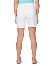 Rockmans Mid Thigh Solid Denim Short white