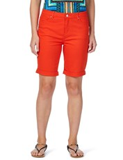 Rockmans Side Zip Solid Colour Denim Short amber