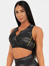 Ryderwear BFCAMO Zip Up Sports Bra Camo
