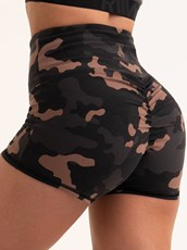 Ryderwear Camo Scrunch Bum Shorts Camo