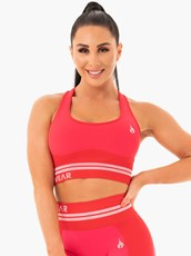 Ryderwear Freestyle Seamless Longline Sports Bra Red