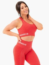 Ryderwear Seamless Staples Sports Bra Red Marl