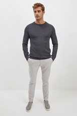 Saba Samuel Wool Blend Crew Neck Knit Charcoal